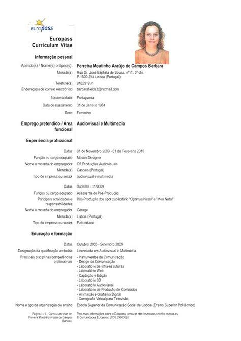 Modelo De Curriculum Vitae Para Completar Em Portugues Borrowpour Tk